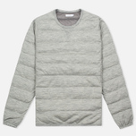 Мужская толстовка Nanamica Button Down Pull Over Heather Grey фото- 0