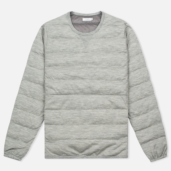Мужская толстовка Nanamica Button Down Pull Over Heather Grey