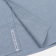 Мужская рубашка Nanamica Button Down Wind Nylon/Cotton Blue фото- 3