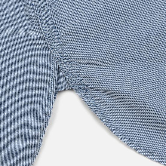 Мужская рубашка Nanamica Button Down Wind Nylon/Cotton Blue