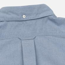 Мужская рубашка Nanamica Button Down Wind Nylon/Cotton Blue фото- 6