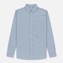 Мужская рубашка Nanamica Button Down Wind Nylon/Cotton Blue фото- 0