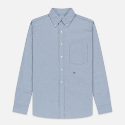 Мужская рубашка Nanamica Button Down Wind Nylon/Cotton Blue