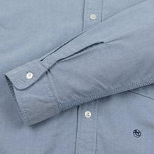 Мужская рубашка Nanamica Button Down Wind Nylon/Cotton Blue фото- 4
