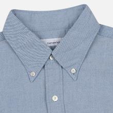 Мужская рубашка Nanamica Button Down Wind Nylon/Cotton Blue фото- 1