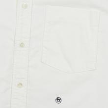Мужская рубашка Nanamica Button Down Wind Nylon/Cotton White фото- 2