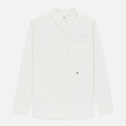 Мужская рубашка Nanamica Button Down Wind Nylon/Cotton White