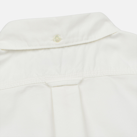 Мужская рубашка Nanamica Button Down Wind Nylon/Cotton White