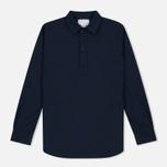 Мужская рубашка Nanamica Military Pullover Navy фото- 0