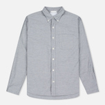 Мужская рубашка Nanamica Wind Button Down Heather Grey фото- 0