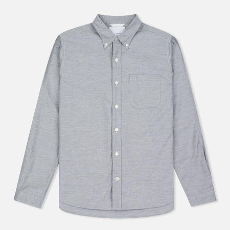 Мужская рубашка Nanamica Wind Button Down Heather Grey