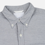 Мужская рубашка Nanamica Wind Button Down Heather Grey фото- 1