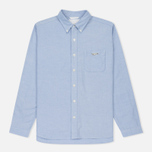 Мужская рубашка Nanamica Wind Button Down Pocket Whale Sax фото- 0