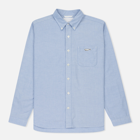 Мужская рубашка Nanamica Wind Button Down Pocket Whale Sax