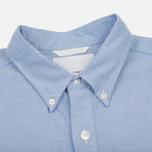 Мужская рубашка Nanamica Wind Button Down Pocket Whale Sax фото- 1