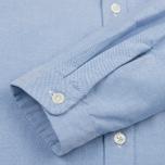 Мужская рубашка Nanamica Wind Button Down Pocket Whale Sax фото- 3