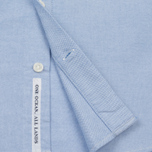 Мужская рубашка Nanamica Wind Button Down Pocket Whale Sax фото- 4