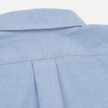 Мужская рубашка Nanamica Wind Button Down Pocket Whale Sax фото- 7