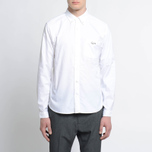 Мужская рубашка Nanamica Wind Button Down Pocket Whale White фото- 7
