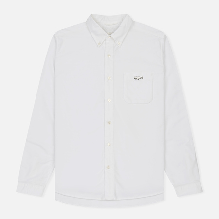 Мужская рубашка Nanamica Wind Button Down Pocket Whale White