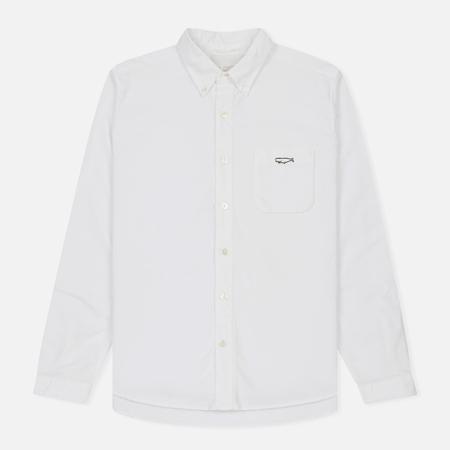 Мужская рубашка Nanamica Wind Button Down Pocket Whale White