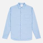 Мужская рубашка Nanamica Wind Regular Collar Sax фото- 0
