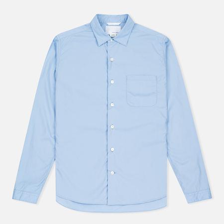 Nanamica Wind Regular Collar Men's Shirt Sax