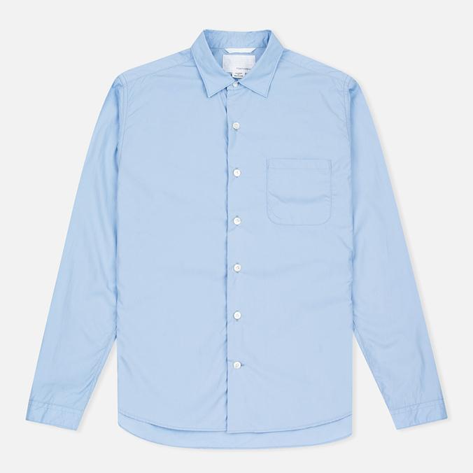 Мужская рубашка Nanamica Wind Regular Collar Sax