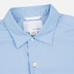 Мужская рубашка Nanamica Wind Regular Collar Sax фото- 1