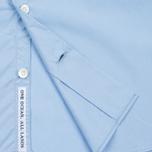 Мужская рубашка Nanamica Wind Regular Collar Sax фото- 4