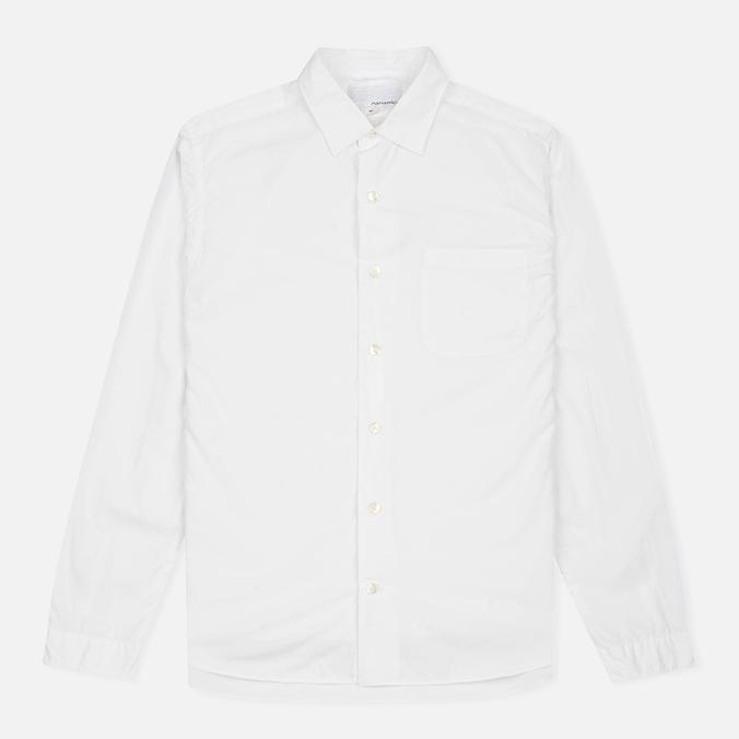 Nanamica Wind Regular Collar Men's Shirt White