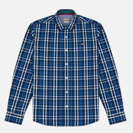 Napapijri Guji Check Men's Shirt Blue