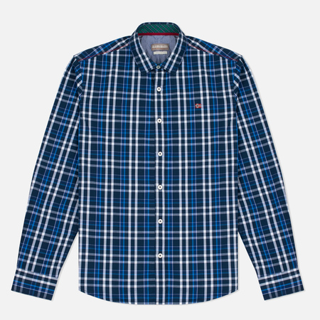 Мужская рубашка Napapijri Guji Check Blue