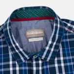 Мужская рубашка Napapijri Guji Check Blue фото- 1