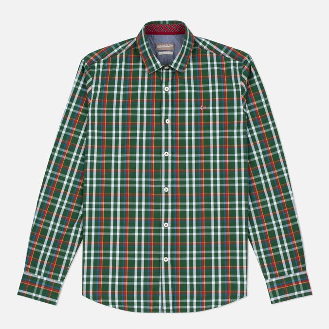 Мужская рубашка Napapijri Guji Check Green
