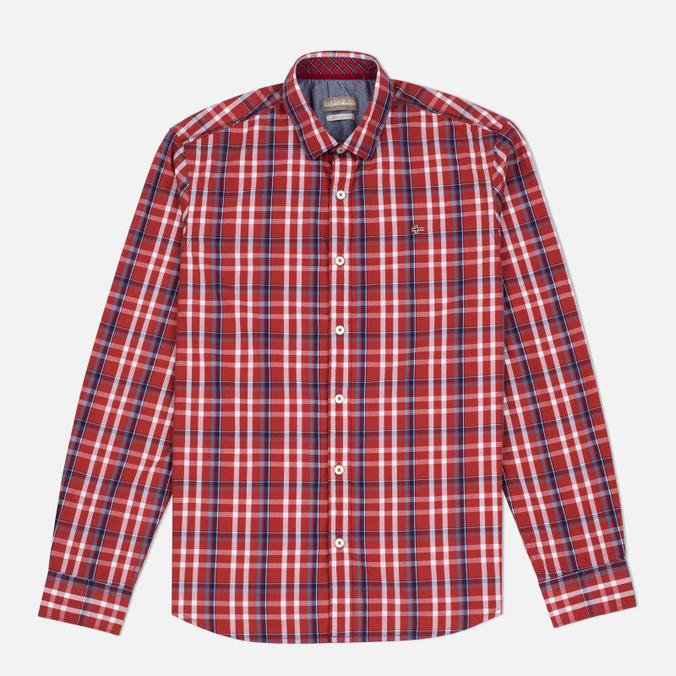 Мужская рубашка Napapijri Guji Check Red