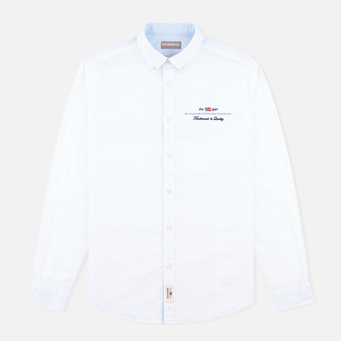 Мужская рубашка Napapijri Gysele Bright White