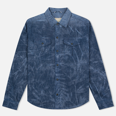 Nemen Chambray Printed Men's Shirt Indigo Chambray