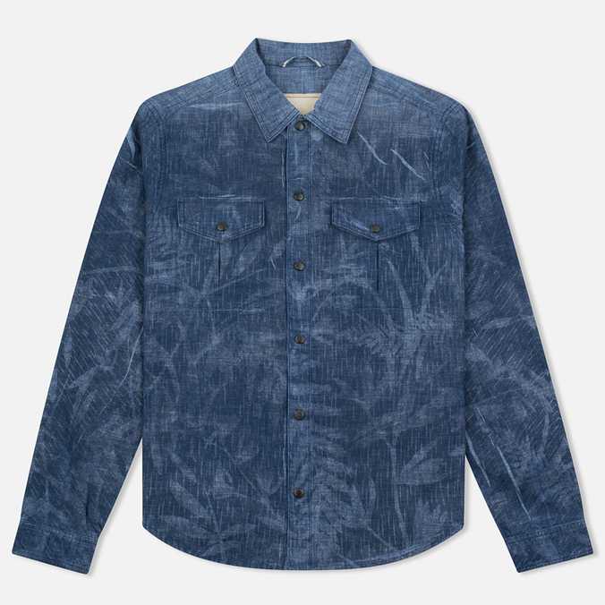 Мужская рубашка Nemen Chambray Printed Indigo Chambray