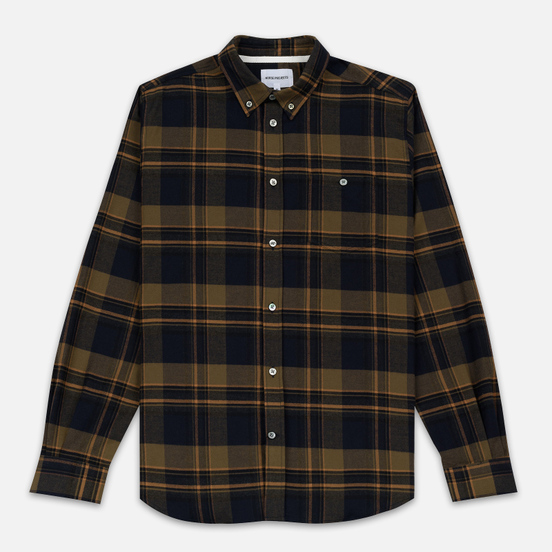 Мужская рубашка Norse Projects Anton Brushed Flannel Check Ivy Green