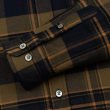 Мужская рубашка Norse Projects Anton Brushed Flannel Check Ivy Green фото- 3