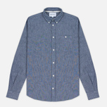 Мужская рубашка Norse Projects Anton Chambray Indigo фото- 0