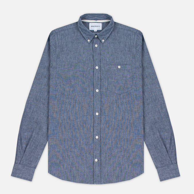 Мужская рубашка Norse Projects Anton Chambray Indigo
