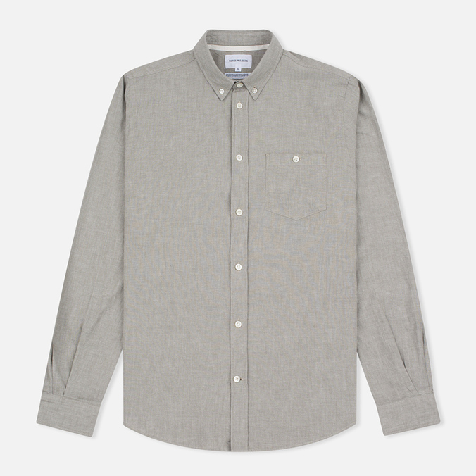 Мужская рубашка Norse Projects Anton Chambray Dryed Olive