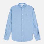 Мужская рубашка Norse Projects Anton Chambray Light Indigo фото- 0