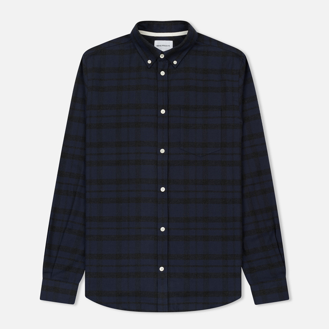 Мужская рубашка Norse Projects Anton Check Charcoal