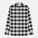 Мужская рубашка Norse Projects Anton Check Light Grey Melange фото- 0