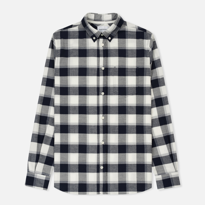 Мужская рубашка Norse Projects Anton Check Light Grey Melange