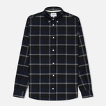 Мужская рубашка Norse Projects Anton Check Navy/Charcoal фото- 0
