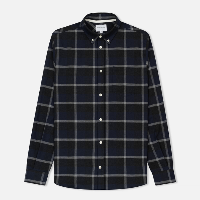 Мужская рубашка Norse Projects Anton Check Navy/Charcoal